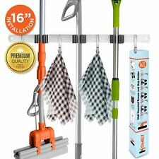 Mop Broom Organizer Hanger Storage for Tools Wall Mount Holder Stainless Steel
