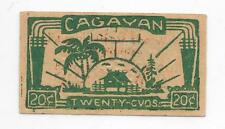 Philippines Emergency Currency Gagayan 20 Centavos Nice Rich Color - # 10122