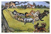 rp13800 - Louis Wain Cats - Catnap - print 6x4