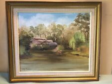 Betty Pearson Lane Cove River  Framed Oil Painting