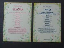 FIRST NAME ORIGIN/MEANING BOY OR GIRL  A4 FULL COLOUR PARCHMENT POSTER SCROLL