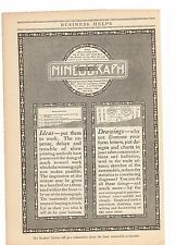 1916 Edison Dick Mimeograph Advertisement