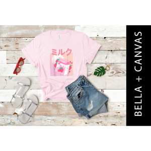 Kawaii Clothing Strawberry Milk Pastel Pink T-Shirt