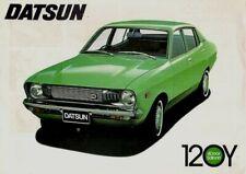 Datsun Nissan Sunny 120Y Saloon 1973-74 UK Market Single Sheet Brochure 2dr 4dr