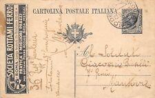 3667) REGNO INTERO PUBBLICITARIO 15c SOCIETA' ROTTAMI DI FERRO, ROMA.