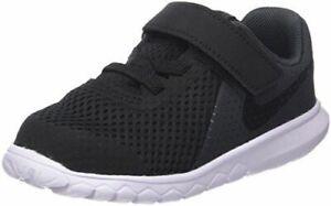 Nike Boys' Flex Experience 5 Toddlers~ Slip-on w hook n loop ~ Blk/White size 5