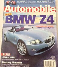 Automobile Magazine BMW Z4 GTO Vs GTO Mercury August 2002 080417nonrh