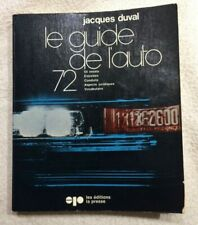 Guide de l'Auto 1972 Original - Jacques Duval