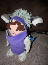 """disney store Monsters INC Boo  Costume Plush 12"""" Rare tags intact scare floor F"""