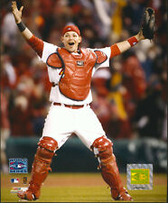 Yadi Molina Arms Up World Series St. Louis Cardinals 8x10 Photo With Toploader