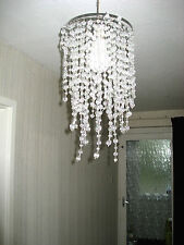 Clear ceiling LAMPSHADE with dangling beads design - 4 available