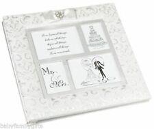 "Lillian Rose Wedding 13"" White Brocade Scrapbook Photo Album PH250 W Defect"