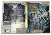 Star Wars Clone Wars Nintendo Wii Lightsaber Duels Complete CIB Manual Tested