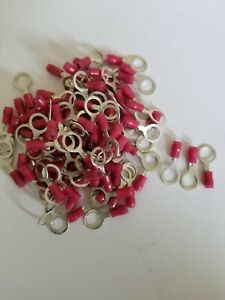 """100) T&B Ring Crimp Terminals #18-22 AWG 5/16"""" stud Insulated High Qual USA NEW!"""