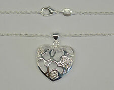 Necklace Silver Heart Design