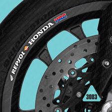 SKU3003 - 10 X Repsol Honda HRC Motocicleta Rueda Llanta Adhesivos Calcomanías transferencias