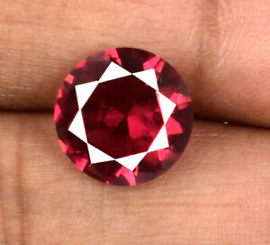 3.30 Ct Burma Ruby Round Cut Gemstone Natural Untreated Certified