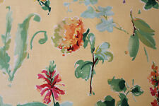 """""""Ariana"""" by Braemore, large-scale floral drapery decorator fabric in lemon multi"""