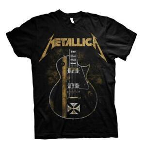 ** Metallica T-Shirt Hetfield Iron Cross Guitar Official **