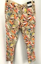 Ladies M&S COLLECTION Beige Floral Patterned Linen Trousers UK Size 10   - Y92