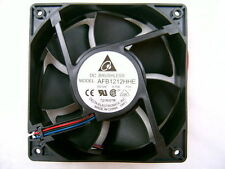 Delta  Extreme High Speed 120CFM 120mmx120mmx38mm 3Pin Fan (AFB1212HHE-F00)