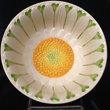 """MOTTAHEDEH ITALY S6524 EMBOSSED WHITE & YELLOW DAISY SOUP CEREAL BOWL 6 1/8"""""""