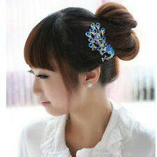 Fashion Vintage Jewelry Crystal Peacock Hair Clip hair comb Beauty Tools
