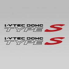 "Acura I-Vtec Dohc RSX Type S, Quarter Panel Decal, 1 Pair Set Black 11.5"" x 1.5"""