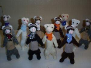 HAND KNITTED-CUTE PET FERRET--- Nice Little Gift for Ferret Lover