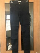 DOROTHY PERKINS NAVY BLUE WITH SPARKLE JEGGINGS SIZE 8 BNWOT