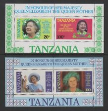 Tanzania - 1985, Life & Times of Queen Mother sheets - MNH - SG MS429