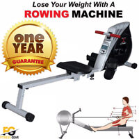 MAXSTRENGTH® Rowing Machine Foldable Resistance Cardio Magnetic Fitness Workout