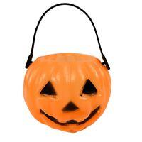 Vintage Miniature Blow Mold Pumpkin Halloween Orange Bucket Jack o Lantern