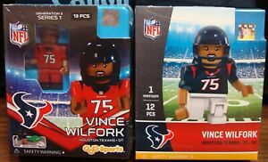 (2) VINCE WILFORK #75 HOUSTON TEXANS RED & BLUE JERSEY MINIFIGURES 👀