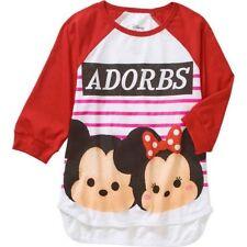 Tsum Tsum Girls' Raglan T-shirt Adorbs 3/4 Sleeve 6-6X
