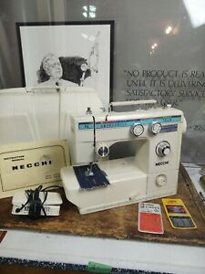 Necchi Model 535FA Sewing Machine With Foot Pedal Manual & Hard Case Tested Work
