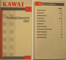 KAWAI PRODUKTÜBERSICHT KATALOG VON 1997 - SYNTHESIZER