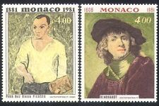 Monaco 1981 Picasso/Rembrandt/Artists/Paintings/Art/Portraits/People 2v (n40289)