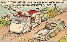 Vintage Travel Trailer Art Funny Dinner  Refrigerator / Tool  Box  Magnet