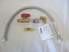 """GAS CONNECTION 5 PC KIT WITH 22"""" FLEX STAINLESS STEEL CONNECTOR AND FITTINGS"""