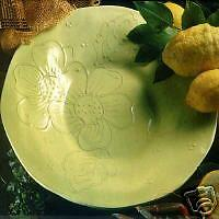 Large 15 In Hand Painted Italian Platter-Citrus Lime
