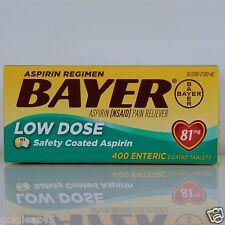 Bayer Low Dose 81mg Aspirin Regimen 400 Enteric Coated Tablets
