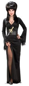 Sexy Elvira Gothic Adult Halloween Costume Small 6-10
