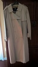 Burberry  long trench coat with waist belt. Size M-L Great Condition