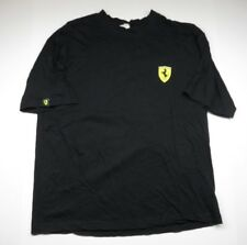 FERRARI Black Short Sleeve T-Shirt Stallion Logo Adult Men's Size 100% Cotton