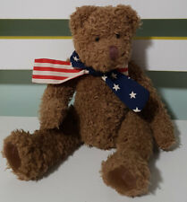 RUSS BERRIE LITTLE PATRIOTS TEDDY BEAR PLUSH TOY! SOFT TOY ABOUT 15CM SEATED!