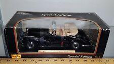 1/18 MAISTO SPECIAL EDITION 1955 MERCEDES-BENZ 300S CONVERTIBLE BLACK yd