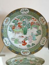 Magnificent Rare Chinese Antique Kangxi Famille Verte Charger