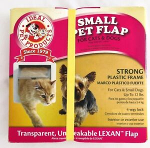 "Ideal Pet Products SPF 4 Way Locking Small Pet Dog Cat Flap 6 1/4"" x 6 1/4"""