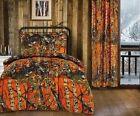 1 pc Orange Camo Woods Twin Comforter (no sheets)